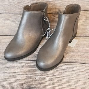 Silver ankle boots by Cat and Jack